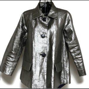 Vintage Lafayette 148 gold Linen jacket